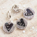 Sweet Heart Round Silver Runners Charm