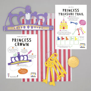 Princess Party Bag With Crown Kit And Treasure Hunt