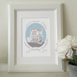 Personalised House Portrait - maps & locations