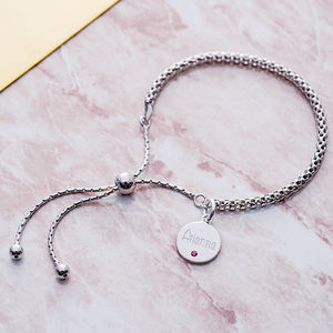 Personalised Birthstone Friendship Bracelet - jewellery