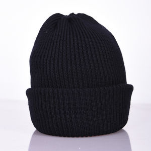 Bowen Turnup Merino Wool Beanie Hat - men's accessories