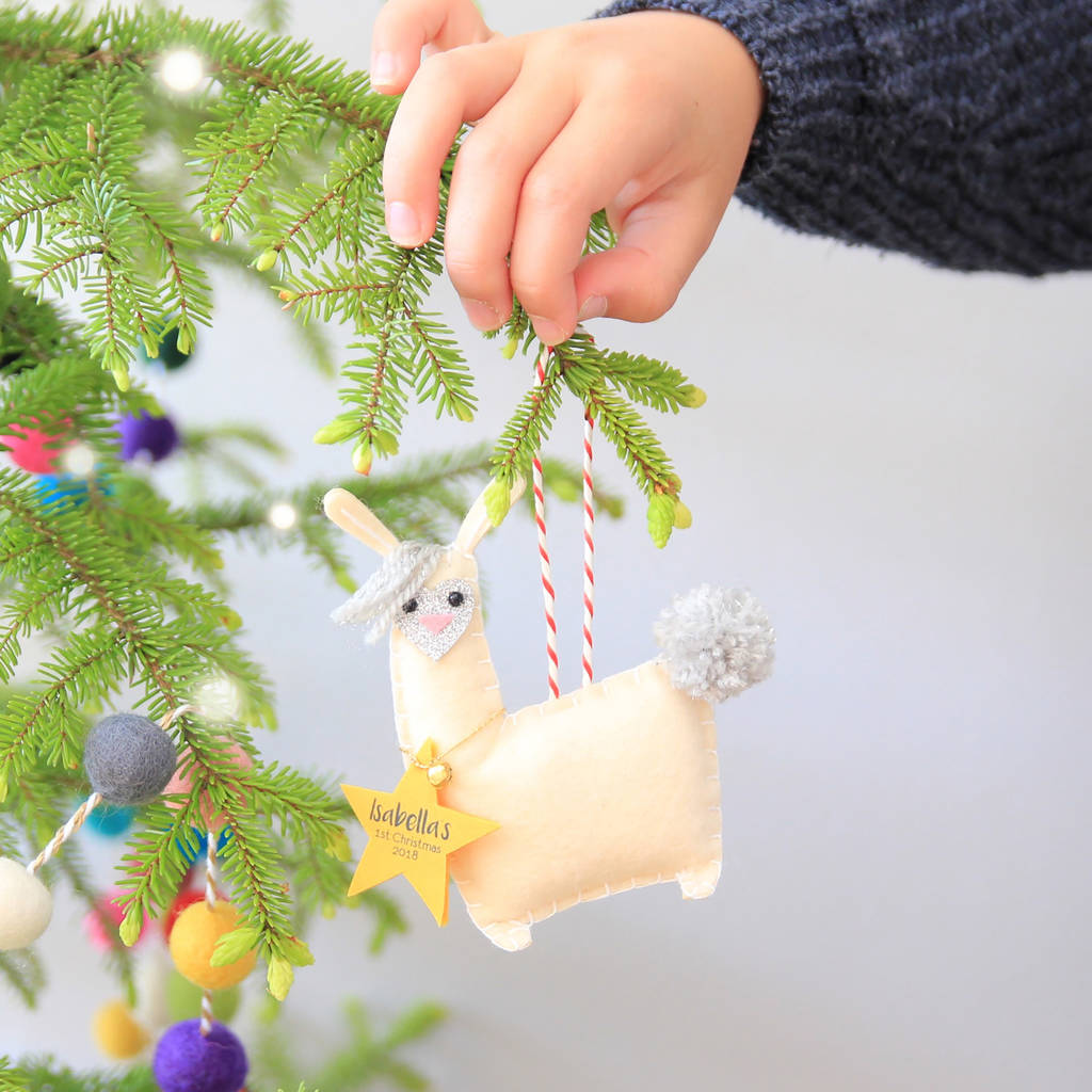 personalised llama christmas decoration - Llama Christmas Decoration