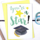 You're A Star, Graduation Well Done Card