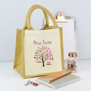 Personalised Teacher Tree Lunch Bag