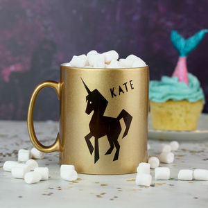 Unicorn Mug Gift With Hot Chocolate And Marshmallows - food & drink