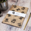 Bumble Bee A5 Recycled Plain Notebook