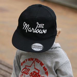 Personalised Retro Flag Kids Sunhat/ Snap Back - new in baby & child
