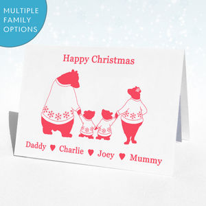 Personalised Christmas Bear Christmas Card