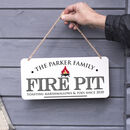 Personalised Fire Pit Metal Sign