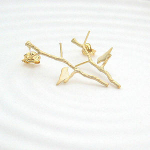 Bird On Branch Earrings