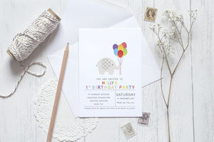 10 Ella Celebration Invitations - childrens party invitations