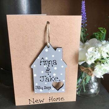 Wooden Keepsake Card Personalised New Home House