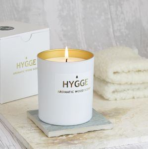 Hygge Scented Candle With Aromatic Wood Scent - candles & home fragrance