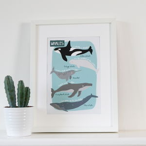 Whales Children's A4 Art Print