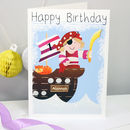 Personalised Pirate Girl Any Occasion Card