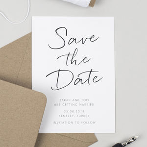 Minimalist Save The Date Card Cards