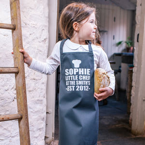 Personalised Little Chef Childrens Apron - gifts for children