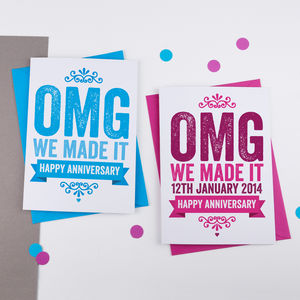 Personalised Omg Anniversary Card