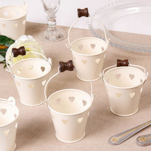 Set Of Six Tea Light Buckets - dining room