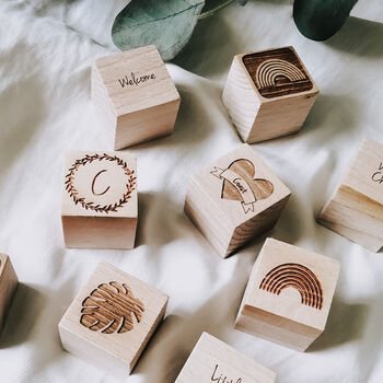 Personalised Keepsake Wooden Building Blocks