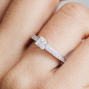 Supernova Ethical Fairtrade Princess Engagement Ring - engagement rings