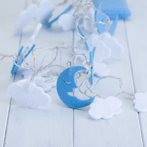 Children's Moon And Clouds Fairy String Lights - children's room