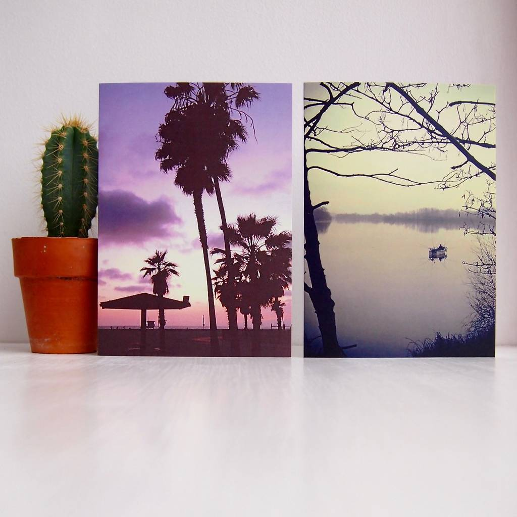 Sunset Sunrise Landscape Birthday Cards