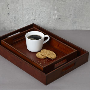 Leather Oblong Tray - trays
