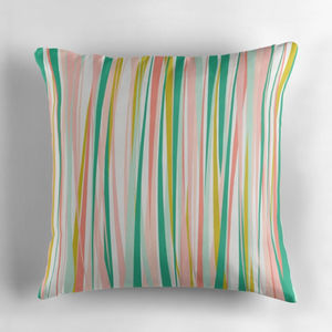 Bright Modern Striped Cushion