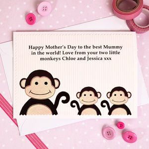 Mother's Day Card From Children Or Grandchildren