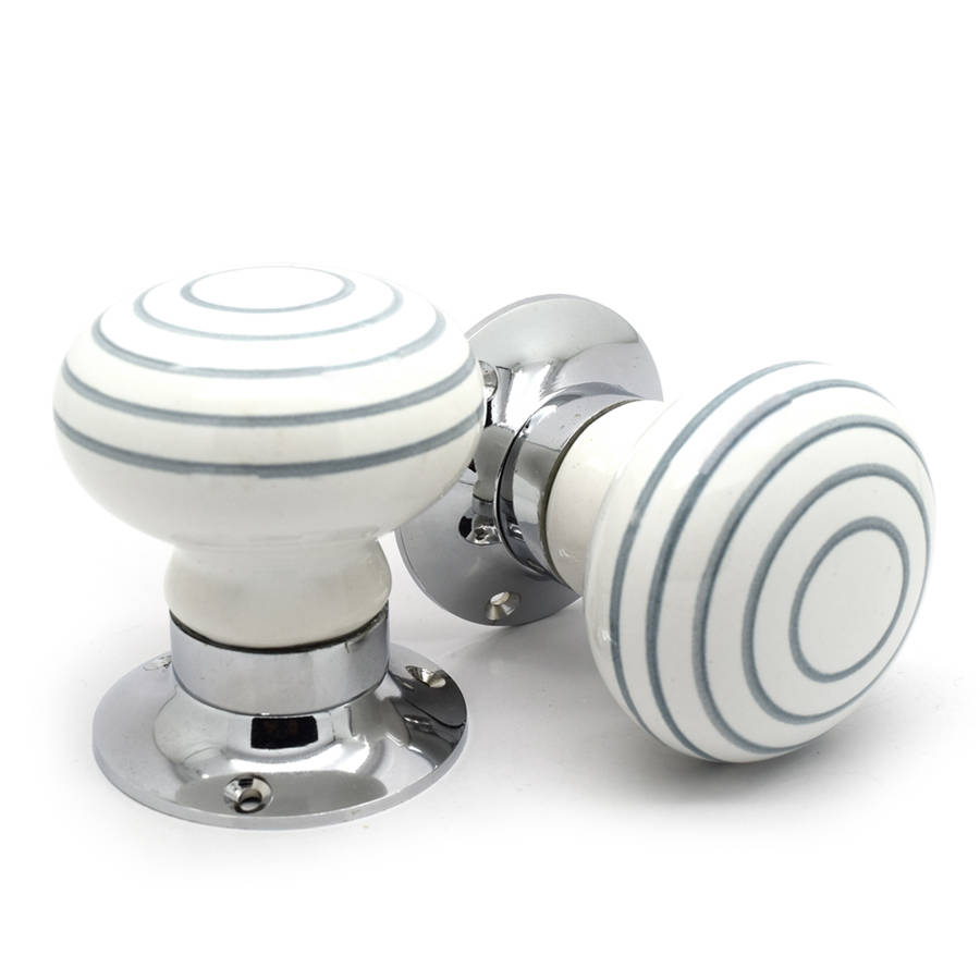 white grey internal turning mortice door knobs by pushka home ...