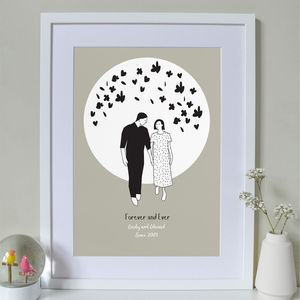 Personalised Couple Forever And Ever Print
