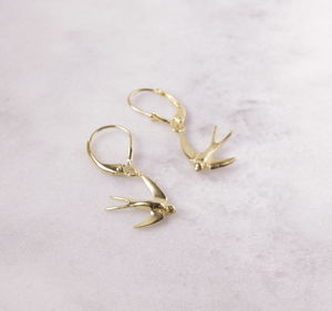 Swallow Continental Earrings - earrings