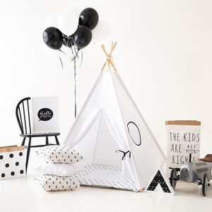 Kids Teepee Tent Set White