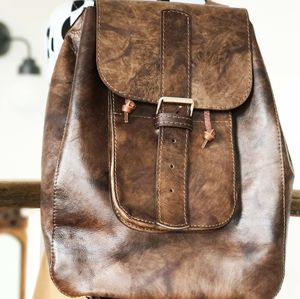 Leather Backpack Handmade In London
