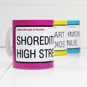 Personalised 'Street Sign' Mugs - our 50 favourite mugs