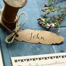 Kraft Feather Place Card Feat. Modern Calligraphy