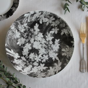 Wood Anemone Ceramic Plate - home wedding gifts