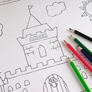 Personalised Colouring And Activity Book