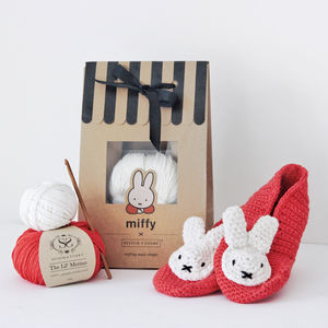 Crochet Your Own Miffy Bunny Slippers Kit