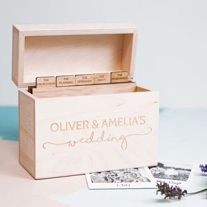 Personalised Wedding Keepsake Photo Box - wedding gifts