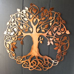 Copper Tree Of Life Wall Art Slight Second - art & decorations