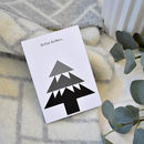 Christmas Tree Card Monochrome