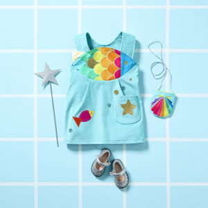 Rainbow Fish Dress Up Costume For Girls