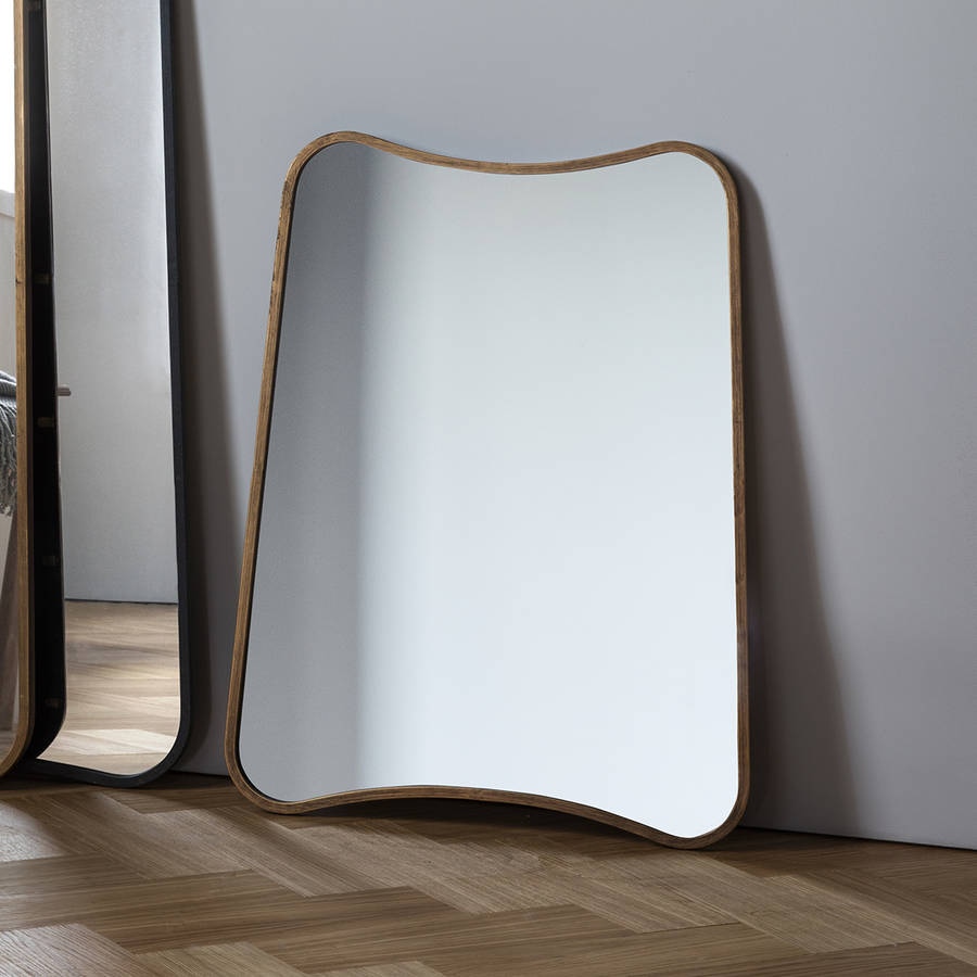 Curved wall or leaning mirror by the forest co for Curved wall