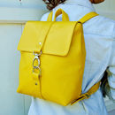 Handcrafted Small Yellow Backpack