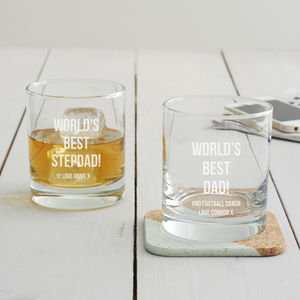 Personalised 'Best Dad' Whisky Glass - glassware