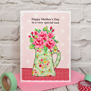 'Roses' Personalised Birthday Card / Mothers Day Card