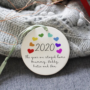 2020 Rainbow Lockdown Memory Ceramic Decoration