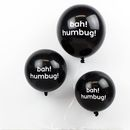 Pack Of Six Or Ten Christmas Bah! Humbug! Balloons